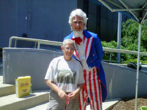 Audrey with Uncle Sam